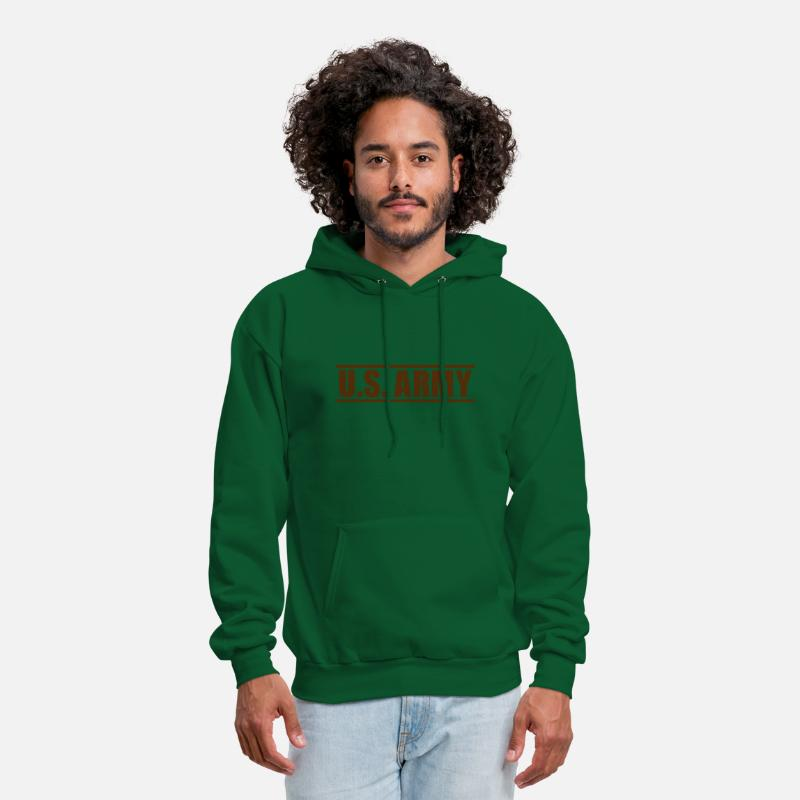Mision Militar Hoodies & Sweatshirts - US Army Patch, Mision Militar ™ - Men's Hoodie forest green