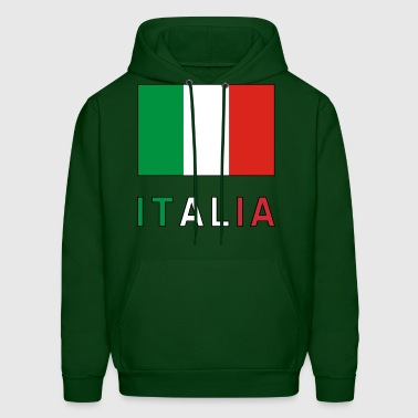 Italian Flag and Italia - Men's Hoodie