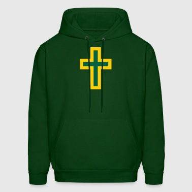 Green Gold Cross - Men's Hoodie