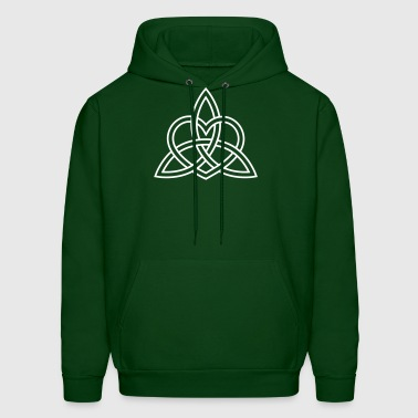 Triquetra Celtic Heart Trinity Eternal Love Knot   - Men's Hoodie