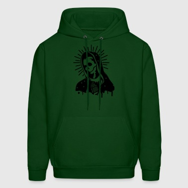 Virgin Mary prays  - Men's Hoodie