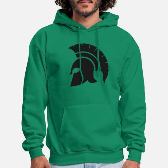 Symbol Of The Brand Spartan Sparta Helmet Men Pullovers Cotton Vintage Sweatshirts Crewneck Clothing Classic Fit Hoodies Men's Clothing