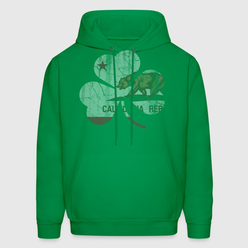 Vintage Irish Flag of California Shamrock - Men's Hoodie