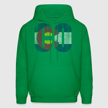 CO Colorado Flag Vintage - Men's Hoodie