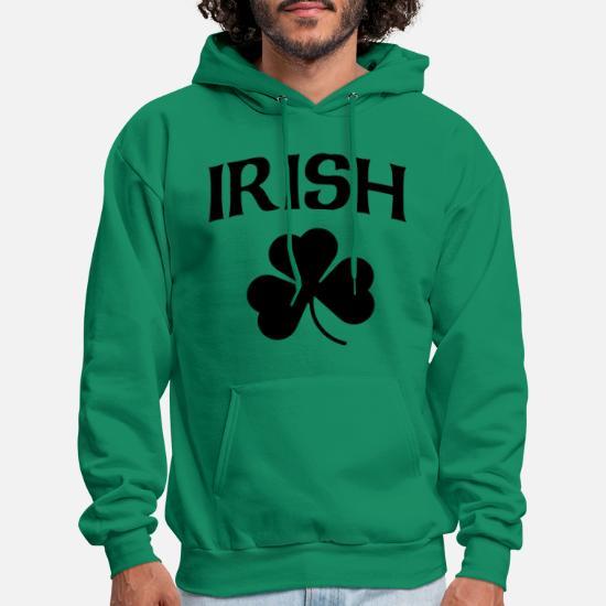 e0a5becc Irish Black Shamrock St Patricks Day Men's Hoodie | Spreadshirt