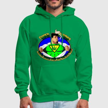 Super Budman Toking Marijuana - Men's Hoodie