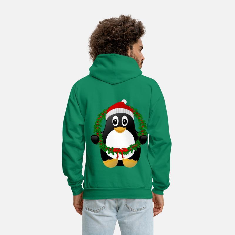 e797c253 Christmas Penguin Men's Hoodie | Spreadshirt