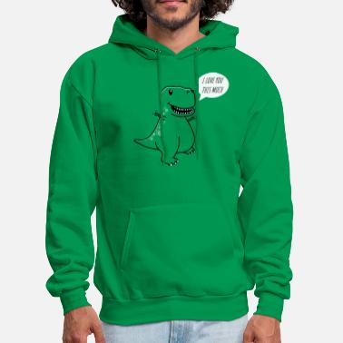 Dino I love you this much - Men's Hoodie
