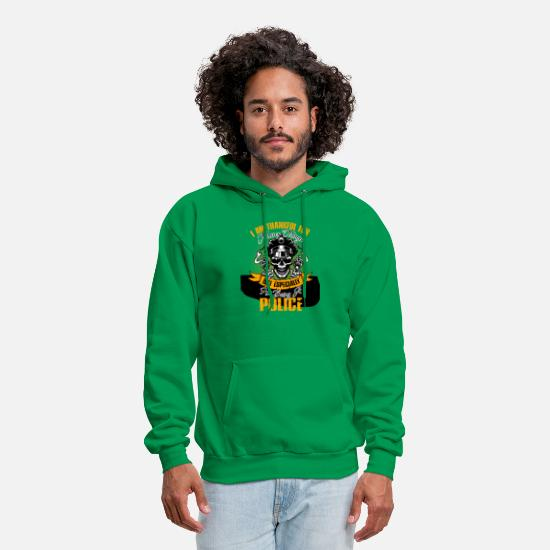 Gift Idea Hoodies & Sweatshirts - I Am Thankful For Being A Police Tshirt - Men's Hoodie kelly green