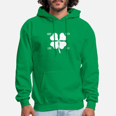 Fourleaf Clover St. Patrick's Day Irish Shamrock Fourleaf Clover - Men's Hoodie