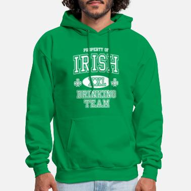Mens Full Zip Hoodie St Patricks Day Shirt Irish Drinking Team