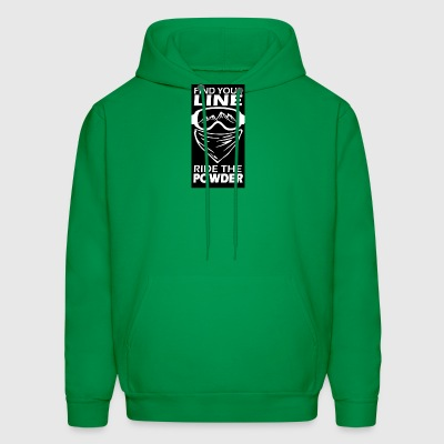 find your line ride the powder black - Men's Hoodie