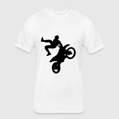 Freestyle Moto Cross - FMX - Supercross - SX - Fitted Cotton/Poly T-Shirt by Next Level