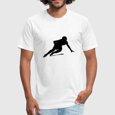 Short track speed skating - Fitted Cotton/Poly T-Shirt by Next Level