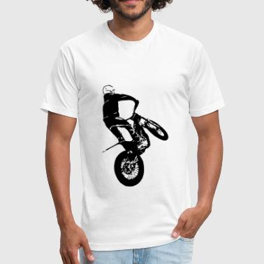 Motorcycle Trial - Fitted Cotton/Poly T-Shirt by Next Level