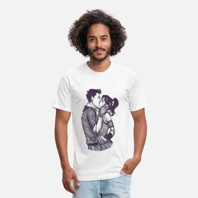 Day T-Shirts - First Kiss - Unisex Poly Cotton T-Shirt white