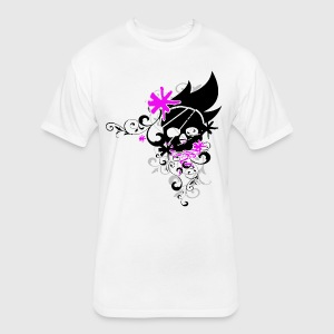 Flower skull pink by tairn spreadshirt fitted cottonpoly t shirt by next level mightylinksfo