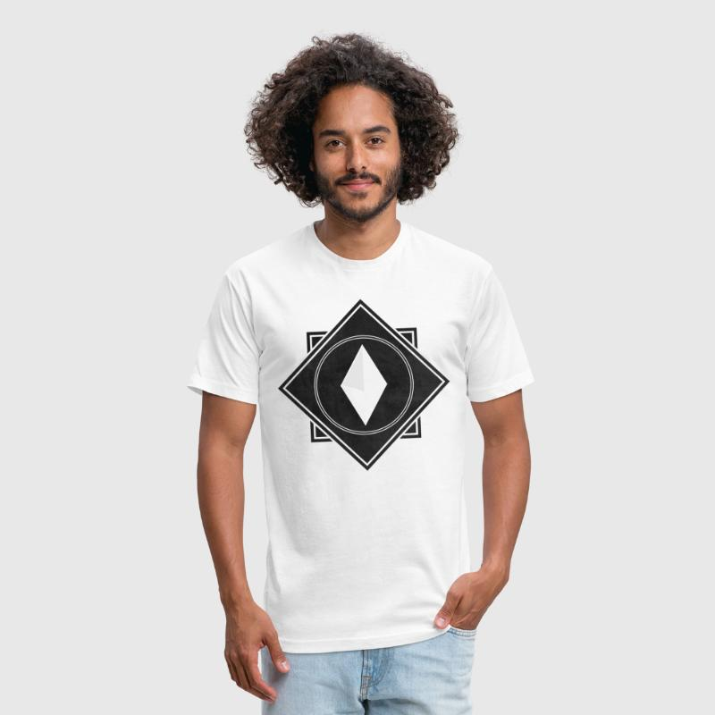 Crysm Double Square Graphic Black - Fitted Cotton/Poly T-Shirt by Next Level
