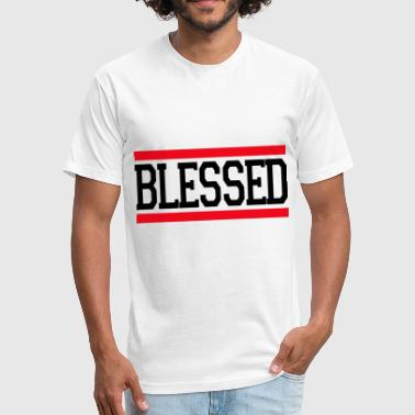 God Awesome Jesus Christ Christian Love BLESSED JESUS GOD LOVE CHRISTIAN - Fitted Cotton/Poly T-Shirt by Next Level
