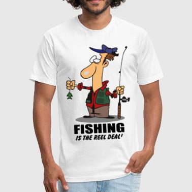 Fishing Jokes JOKE FISHING Funny Fishing - Fitted Cotton/Poly T-Shirt by Next Level