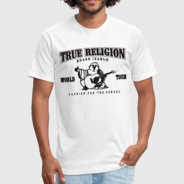 True Religion True Religion New Red Or White V Neck Flocked Soft - Fitted Cotton/Poly T-Shirt by Next Level