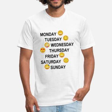 Week Perfect Emojii Week - Fitted Cotton/Poly T-Shirt by Next Level