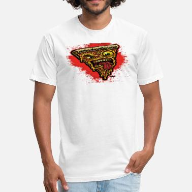 Dope Sick Sick pizza - Fitted Cotton/Poly T-Shirt by Next Level