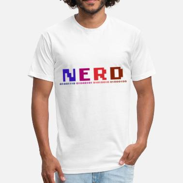 Binary Programming NERD & Binary. - Fitted Cotton/Poly T-Shirt by Next Level