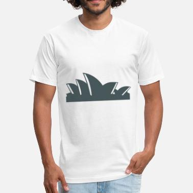 Sydney Opera House sydney opera house - Fitted Cotton/Poly T-Shirt by Next Level