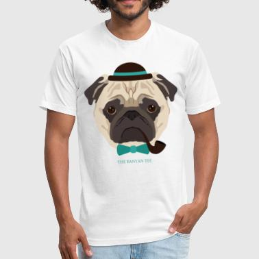 Hipster Pug Hipster Pug - Fitted Cotton/Poly T-Shirt by Next Level