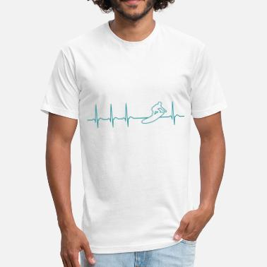 Cool California Heartbeat Surfer Surfing California gift cool fun - Unisex Poly Cotton T-Shirt