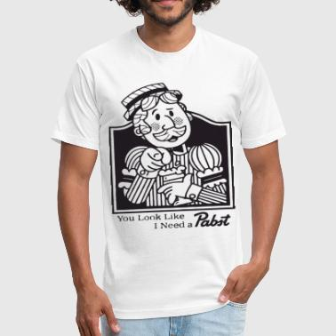 Pabst Blue Ribbon Pabst Blue Ribbon Beer Vintage Look And Feel Hipst - Fitted Cotton/Poly T-Shirt by Next Level