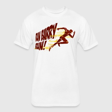 Run Barry Run - Fitted Cotton/Poly T-Shirt by Next Level