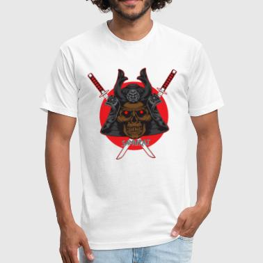 Samurai Skull T-Shirt - Fitted Cotton/Poly T-Shirt by Next Level