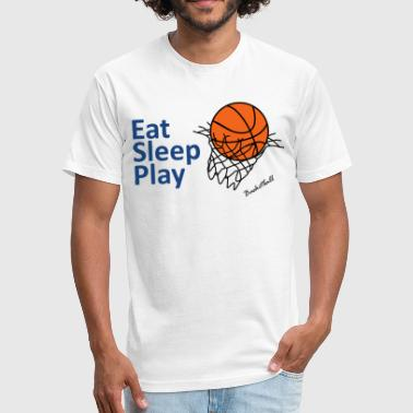 Basket Quotes Basket ball - Fitted Cotton/Poly T-Shirt by Next Level