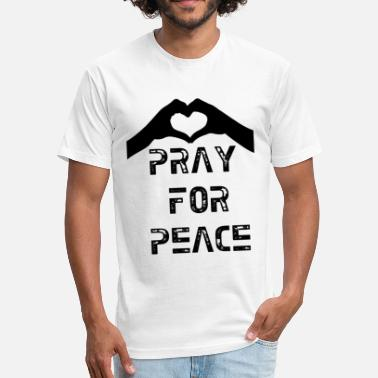 Gif Love Pray for Peace 3.gif - Fitted Cotton/Poly T-Shirt by Next Level