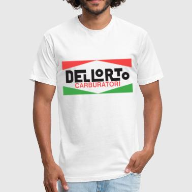 Vintage Italian Motorcycle Vintage Dellorto Italian Motorcycle Carburetor Mot - Fitted Cotton/Poly T-Shirt by Next Level