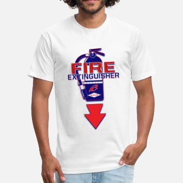 Fire Extinguisher Fire Extingisher Design T - Fitted Cotton/Poly T-Shirt by Next Level