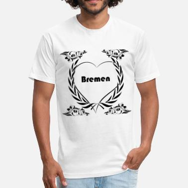 I Love City Clothing I love Bremen, City - Fitted Cotton/Poly T-Shirt by Next Level