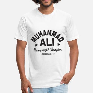 Cassius Muhammad Ali Cassius Clay T Shirt Boxing Gym Worko - Fitted Cotton/Poly T-Shirt by Next Level
