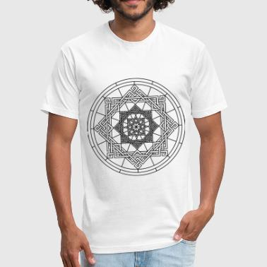 Simple Black Star Star Geometry Present Art Design Black - Fitted Cotton/Poly T-Shirt by Next Level