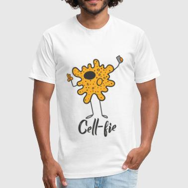 Cell-Fie the cell with camera - Fitted Cotton/Poly T-Shirt by Next Level