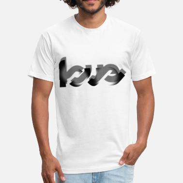 Design Love Love Design - Fitted Cotton/Poly T-Shirt by Next Level
