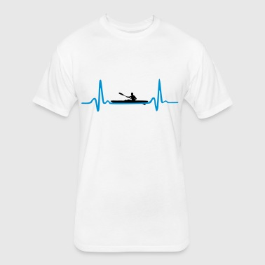 Kayak, Canoeing Heartbeat - Man - Fitted Cotton/Poly T-Shirt by Next Level