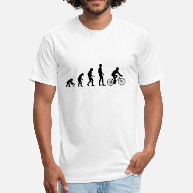 Evolution Bicycle Bicycle Evolution - Fitted Cotton/Poly T-Shirt by Next Level