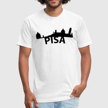 Pisa Italy Arc Skyline Of Pisa Italy - Fitted Cotton/Poly T-Shirt by Next Level