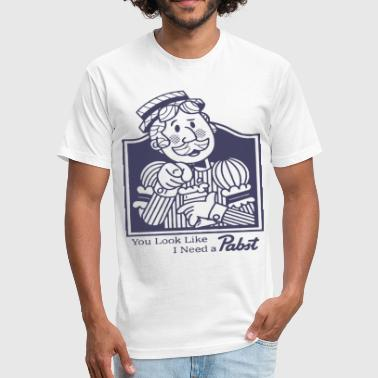 Pabst Blue Ribbon Pabst Blue Ribbon Beer Shirt Vintage Look And Feel - Fitted Cotton/Poly T-Shirt by Next Level