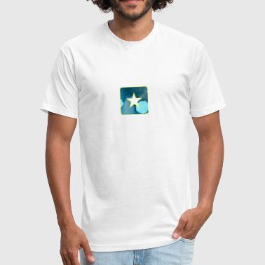 Starry Eyed artTS starry star bluz - Fitted Cotton/Poly T-Shirt by Next Level