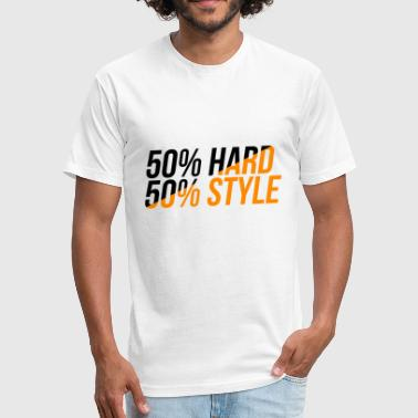 50 Rocks 50/50 Hardstyle - Fitted Cotton/Poly T-Shirt by Next Level