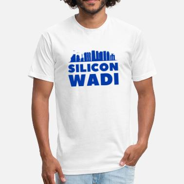Zionist Silicon Wadi Valley Graphic Tel Aviv Israel - Fitted Cotton/Poly T-Shirt by Next Level
